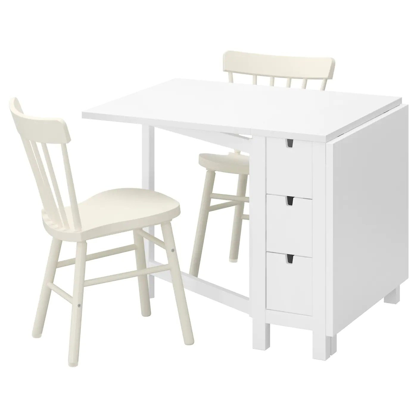 white folding chairs ikea chair covers cheap norden norraryd table and 2 89 cm