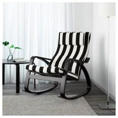 Ikea White Rocking Chair Wheelchair Jacket PoÄng Black Brown Stenli