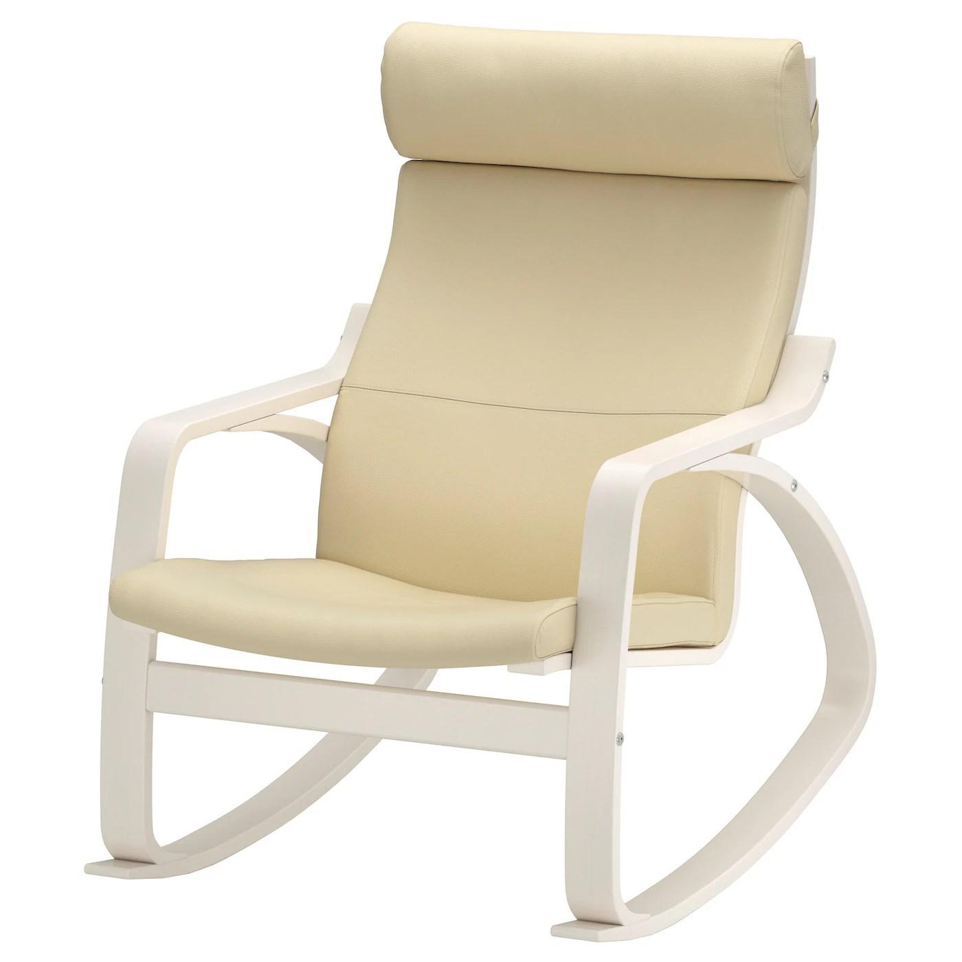 ikea white rocking chair hammock stand uk poÄng glose off