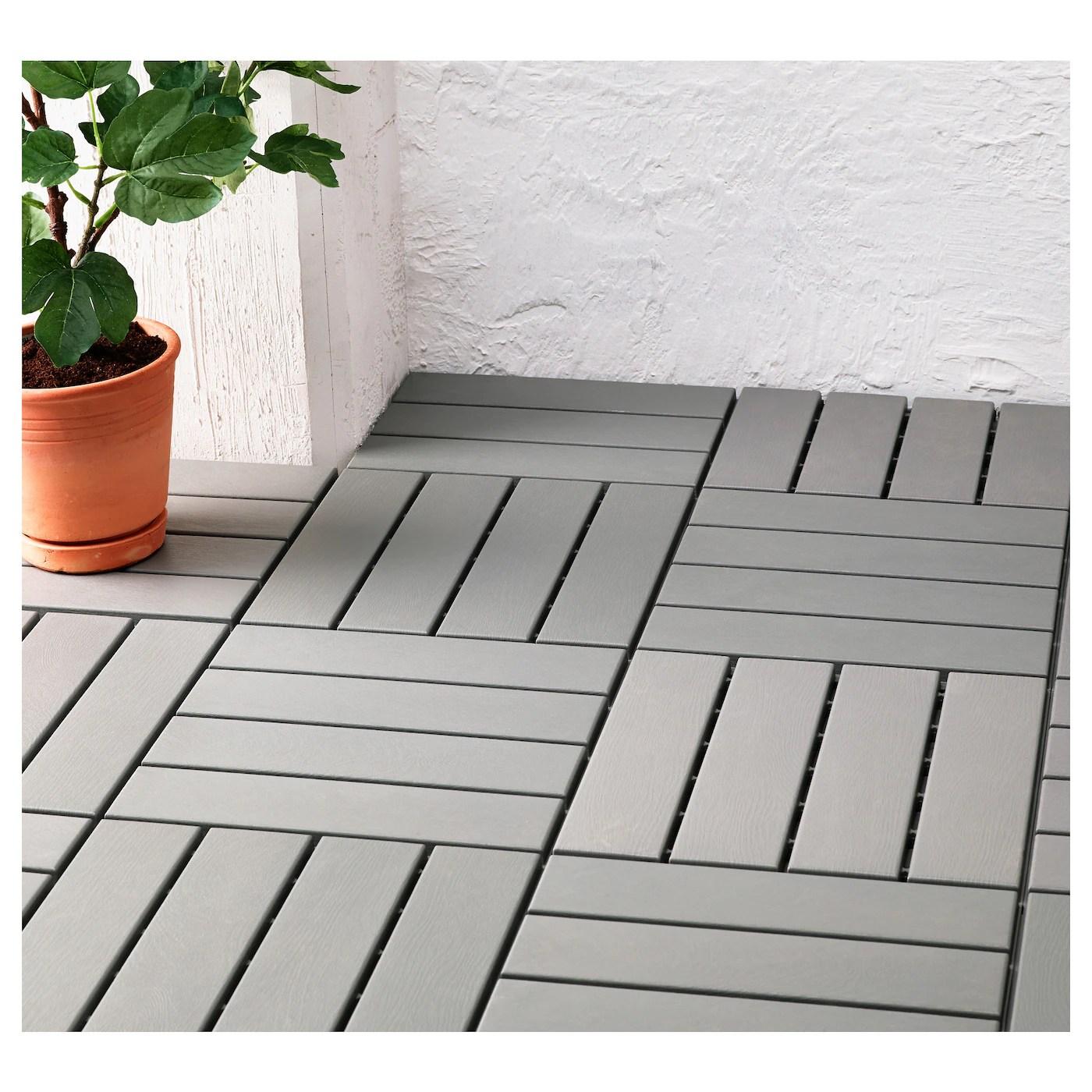 RUNNEN Floor decking outdoor Grey 081 m  IKEA