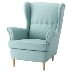 Light Blue Chair Covers Cover Rentals Northern Va Strandmon Wing Skiftebo Turquoise Ikea