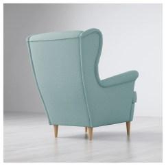 Light Blue Chair Covers Wingback Designer Strandmon Wing Skiftebo Turquoise Ikea