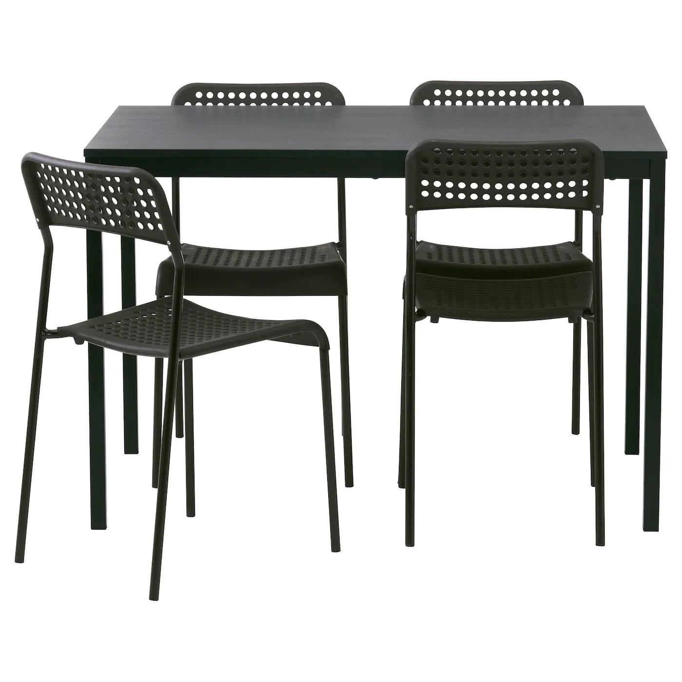 black table and chairs mesa chair a half glider tÄrendÖ adde 4 110 cm ikea