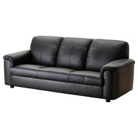 TIMSFORS Three-seat sofa Mjuk/kimstad black - IKEA