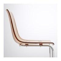 TOBIAS Chair Brown/chrome-plated - IKEA
