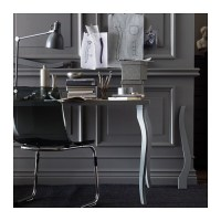 TOBIAS Chair Grey/chrome-plated - IKEA