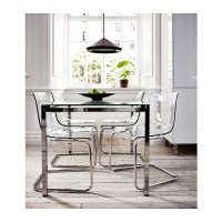 TOBIAS Chair Transparent/chrome-plated - IKEA