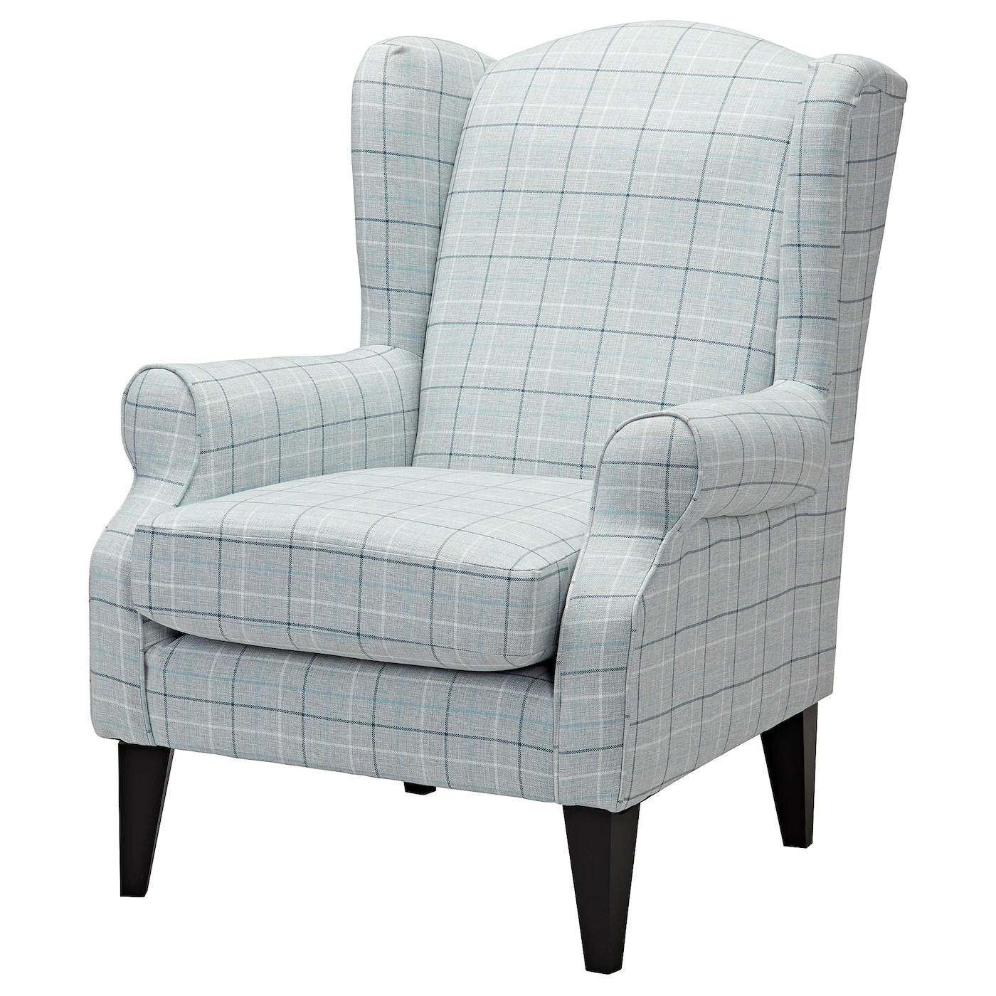 grey wing chair toddler folding table and chairs torsebro light check ikea