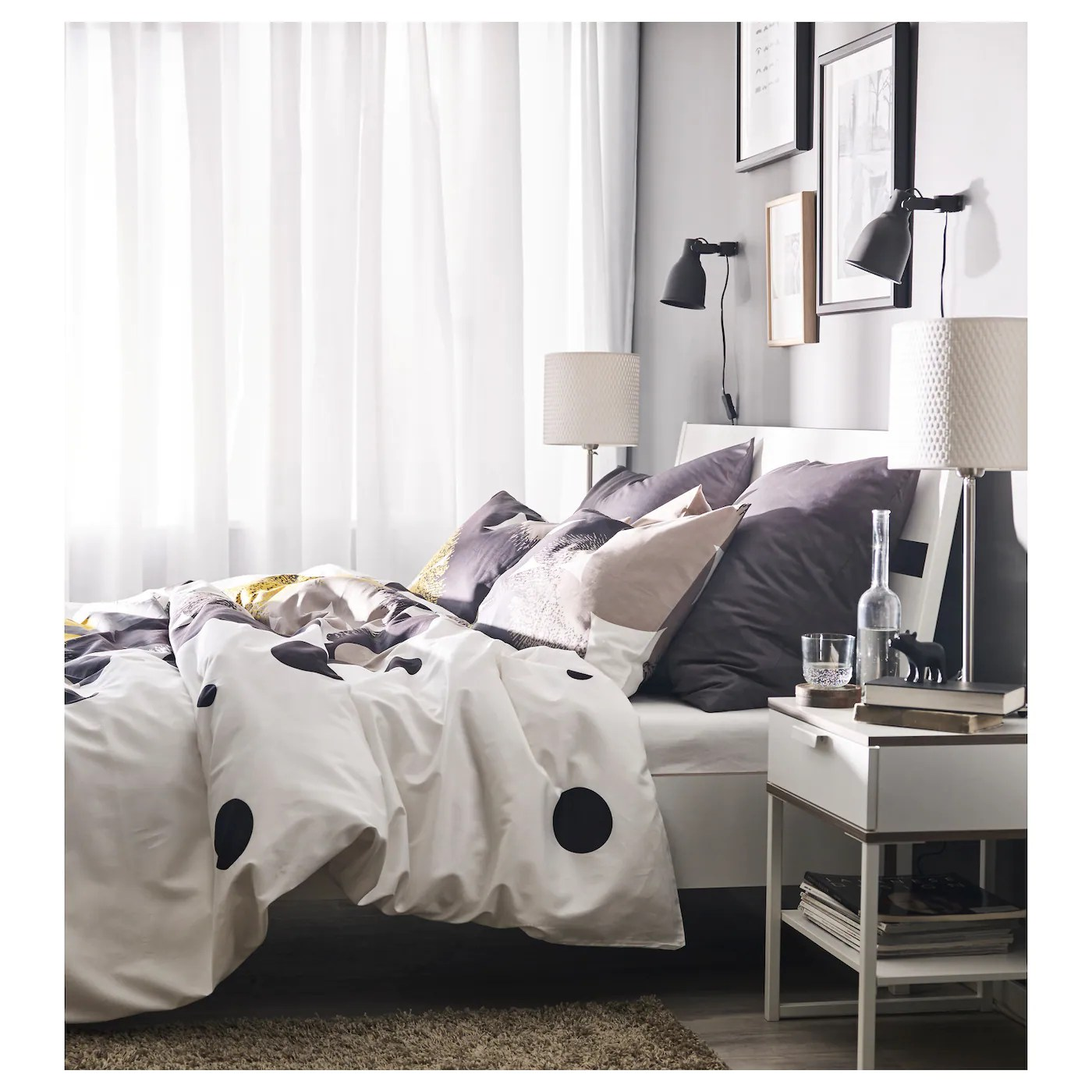 ikea trysil bed frame the angled headboard allows you to sit comfortably when reading in bed