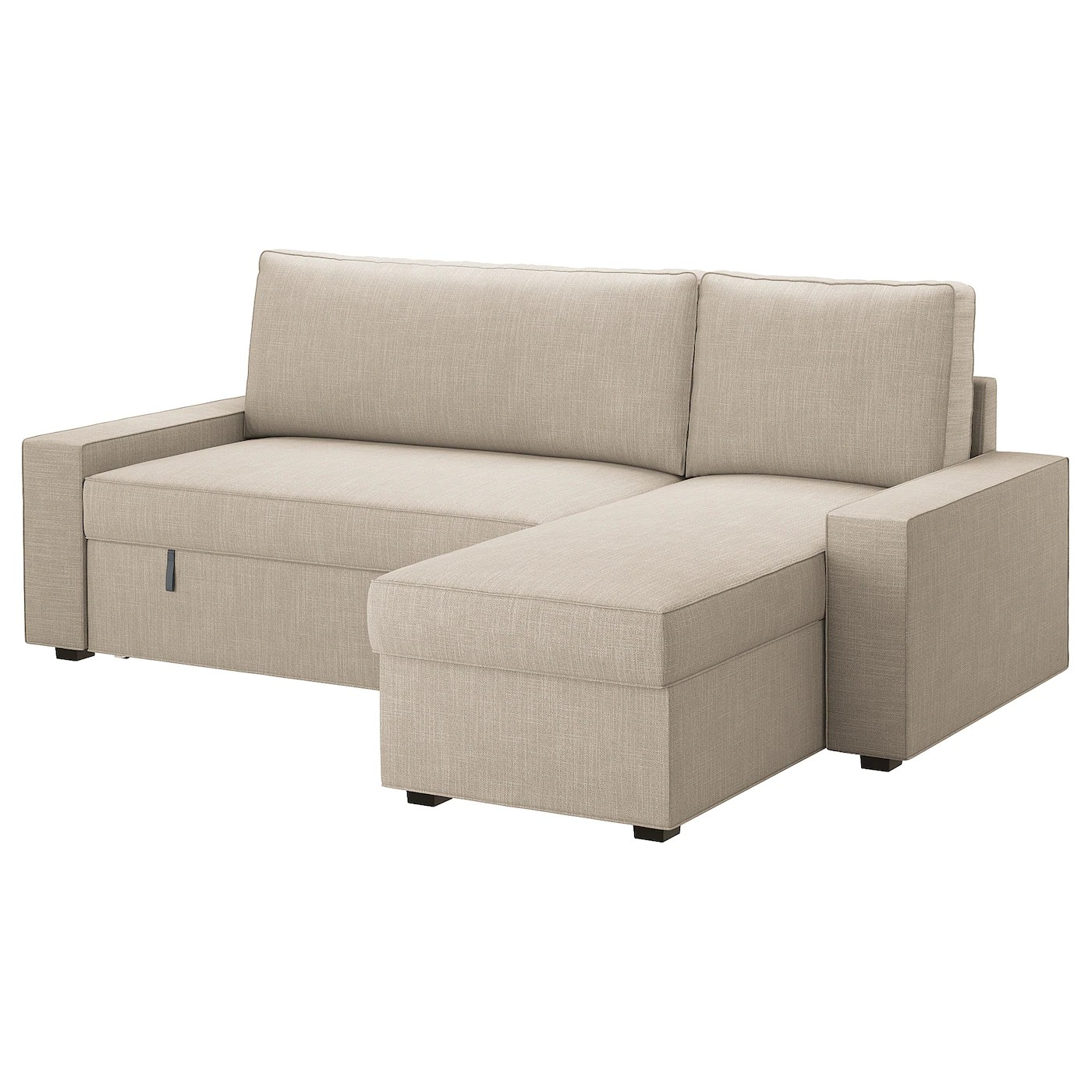 beige chair covers buy west elm saddle office vilasund cover sofa bed with chaise longue hillared