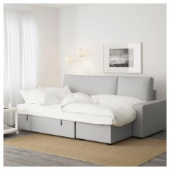 Vilasund Cover Sofa Bed With Chaise Longue Mission Sofas Ramna Light Grey Ikea
