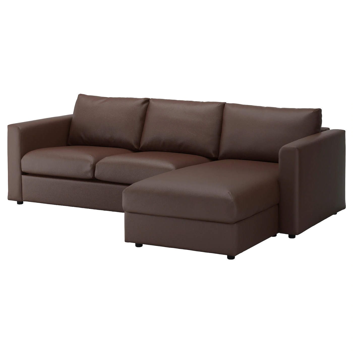 clean leather sofa with damp cloth waterproof protector dogs vimle 3-seat chaise longue/farsta dark brown - ikea