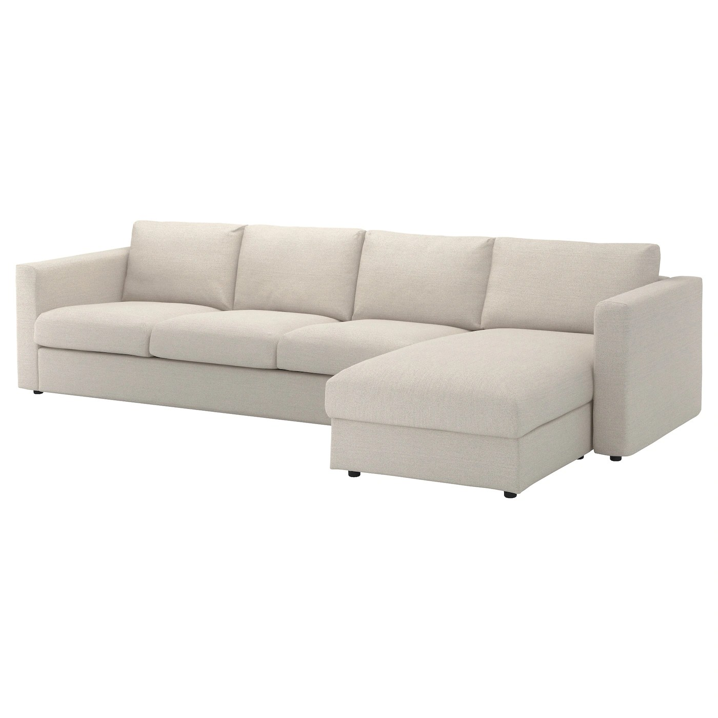 four seat sofa with chaise toddler set vimle 4 longue gunnared beige ikea