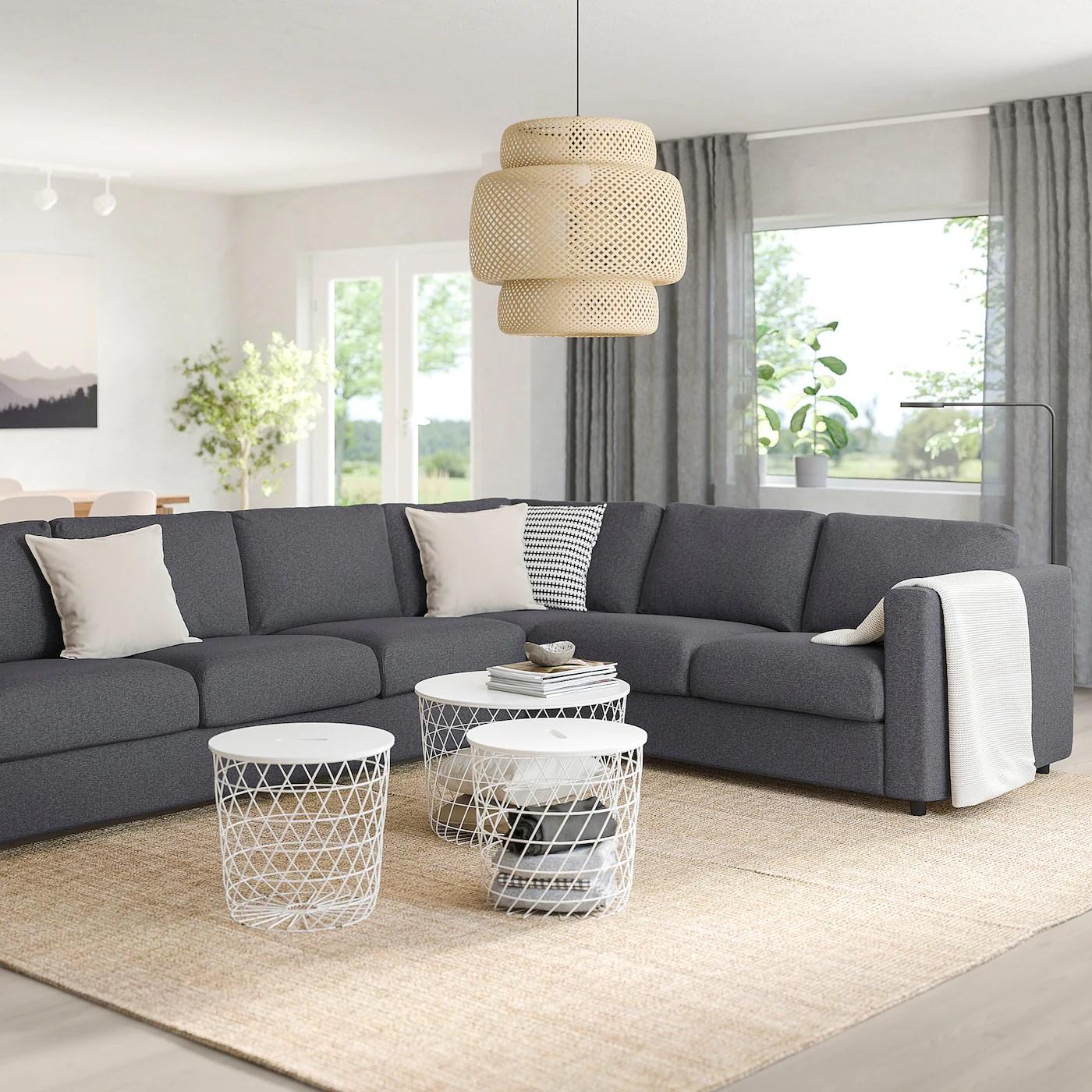 Slipcovers for ikea's färlöv armchair start at $149. VIMLE Corner sofa, 5-seat, Gunnared medium grey - IKEA Ireland