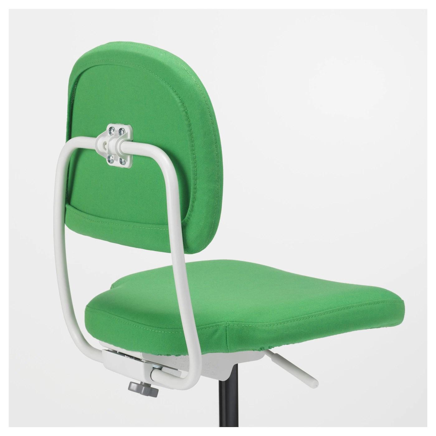 green computer chair large reading vimund children 39s desk vissle bright ikea