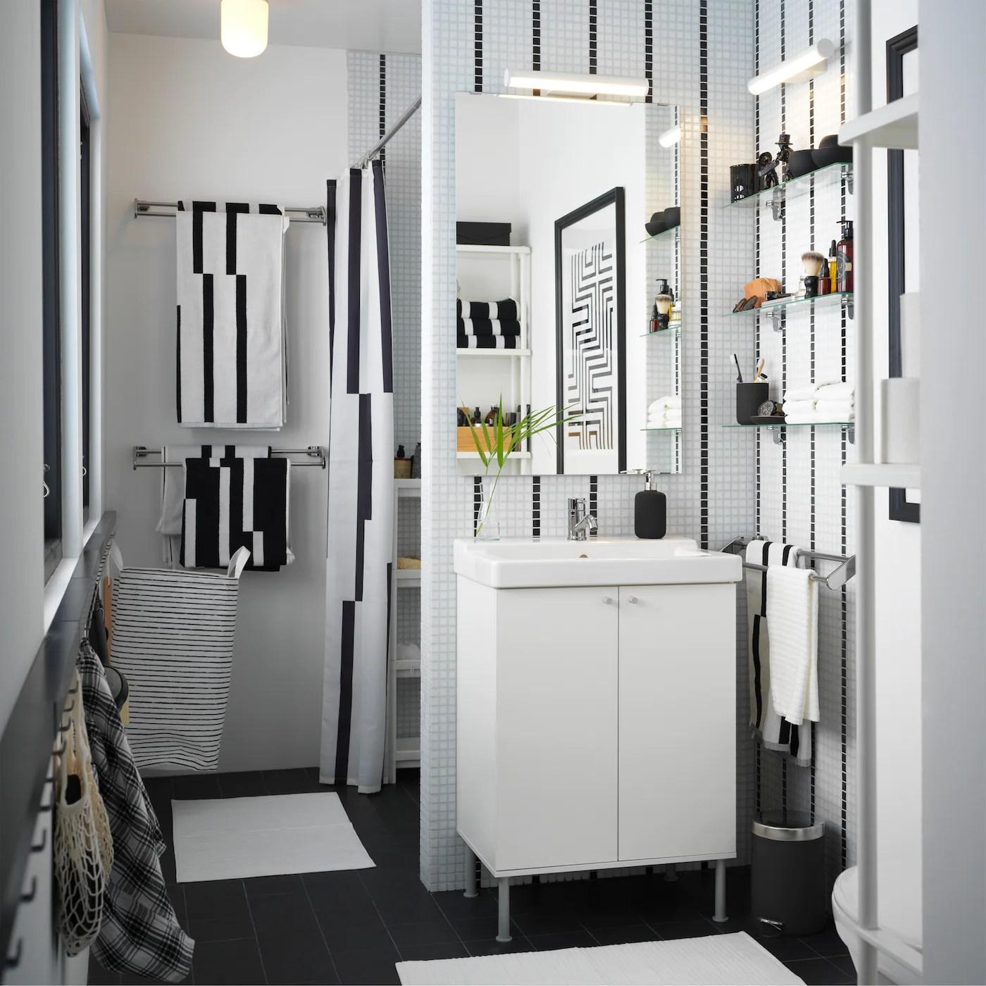 A Small Beautiful Bathroom With Functional Storage Ikea Switzerland