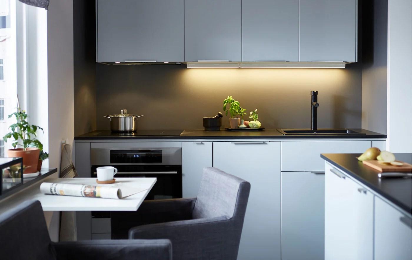 Maximise a tiny space   Small kitchen ideas   IKEA