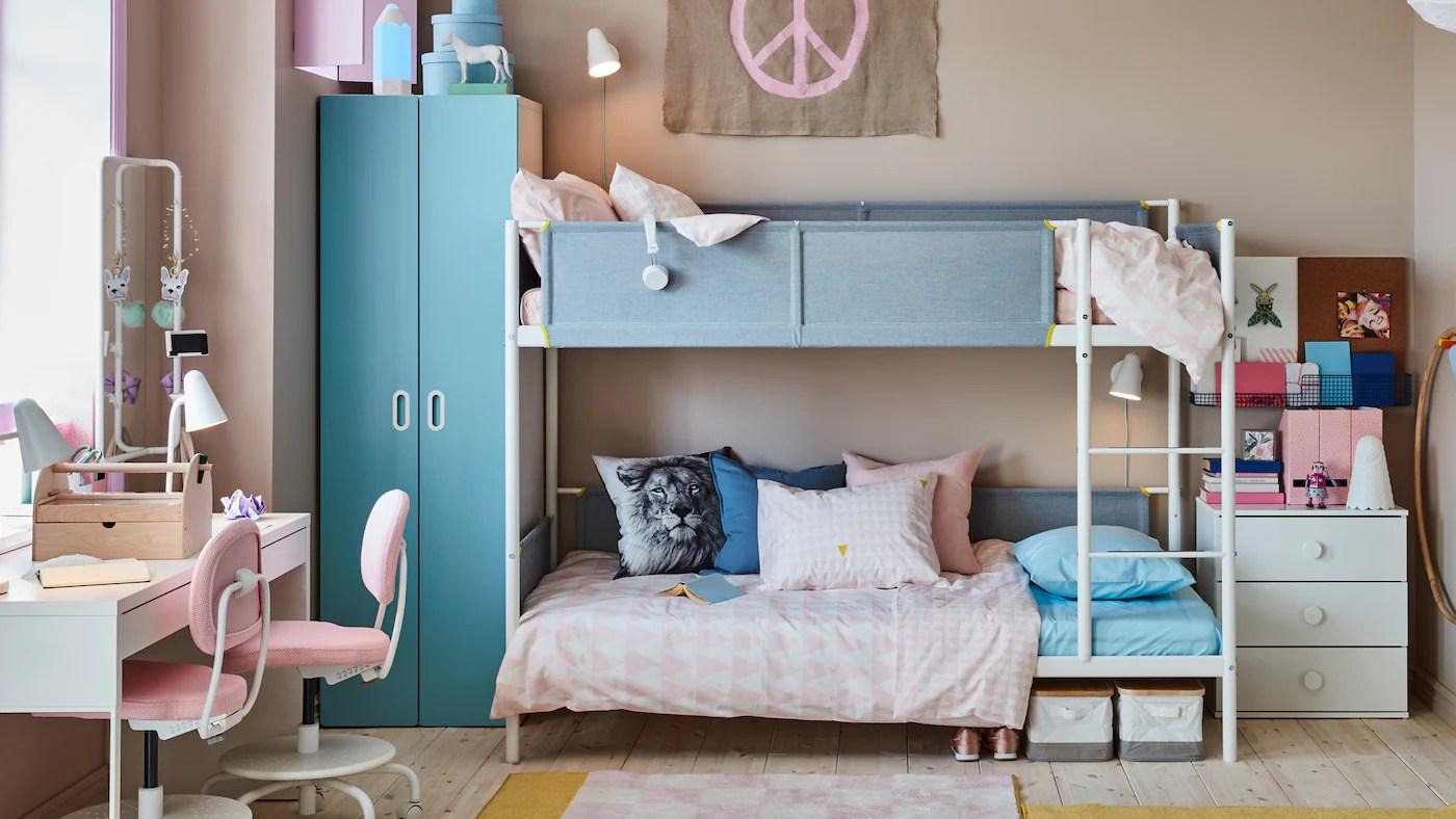 In 10 mq cameretta con doppio letto progetto casa udine. Una Cameretta Per Due Che Fa Spazio Alla Creativita Ikea It