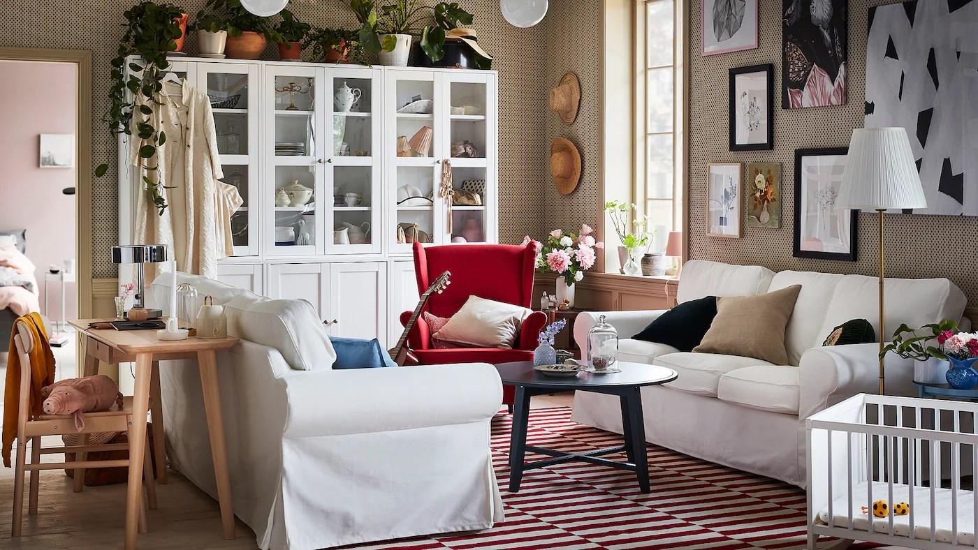 un salon classique et moderne ikea