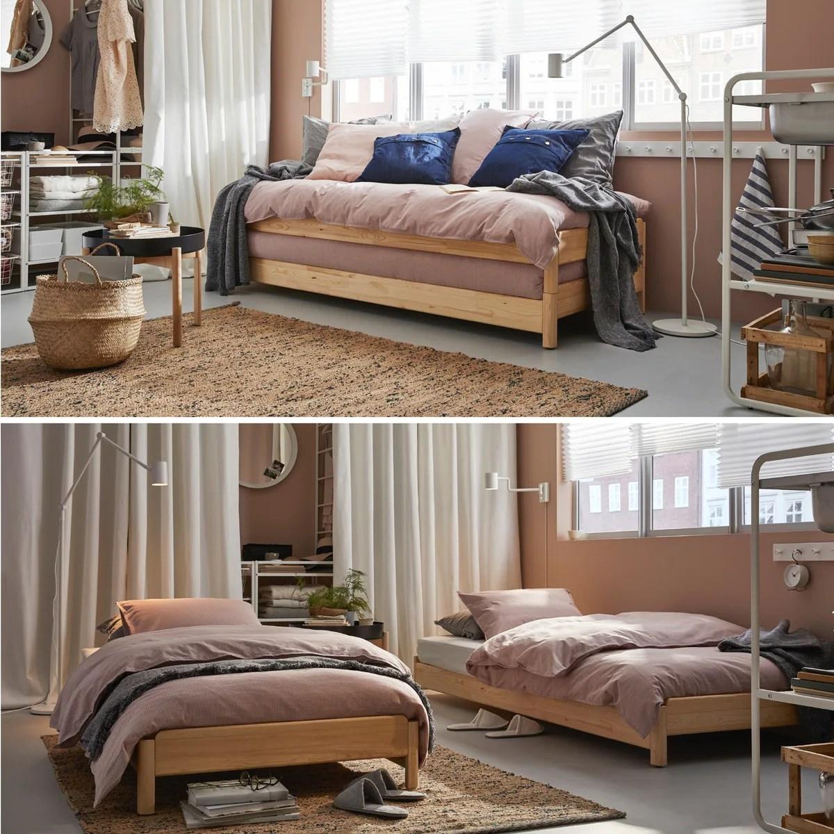 Vielseitiges Wohn  und Schlafzimmer in braun   IKEA ...