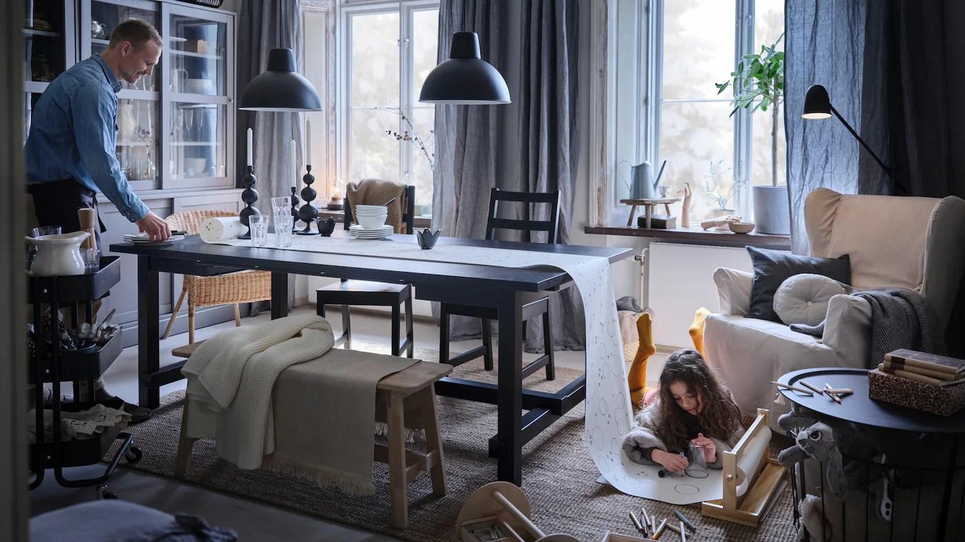 Tips Og Ideer Til Indretning Af Spisestuen Ikea