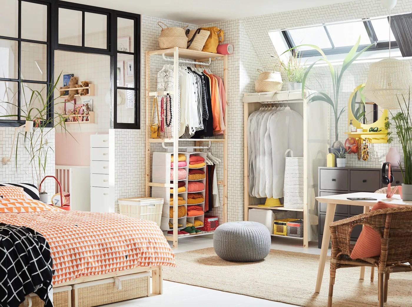 Almacenaje fcil en el dormitorio  IKEA