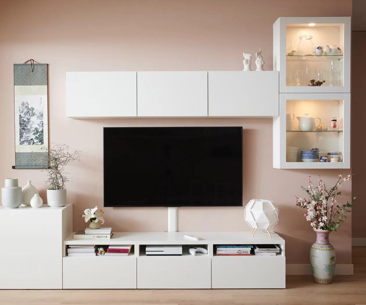 Besta Opbevaringssystem Sammensaet Pa Kryds Og Tvaers Ikea