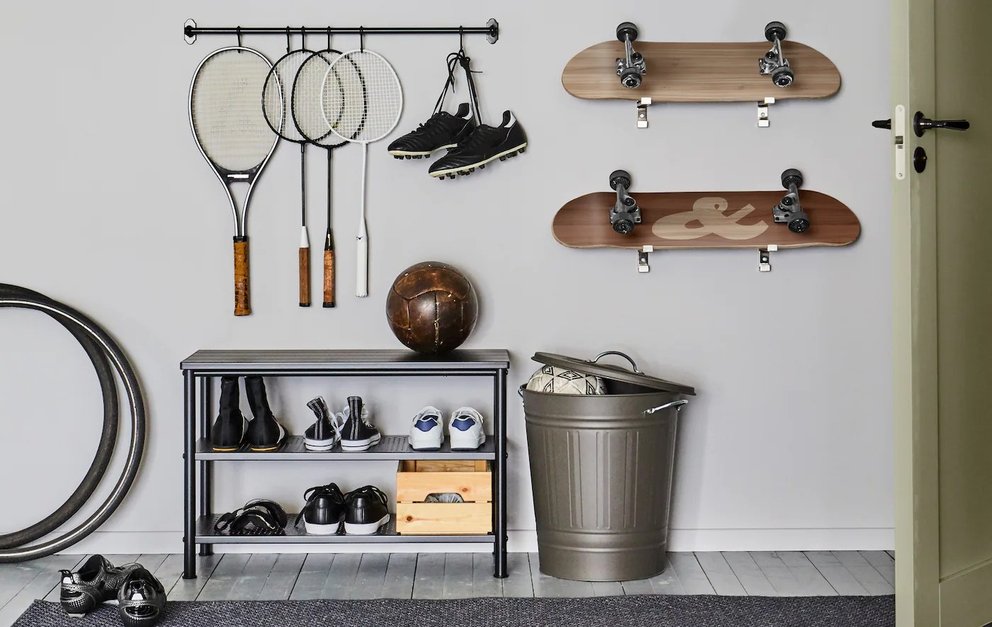 a few ways to store your athletic gear