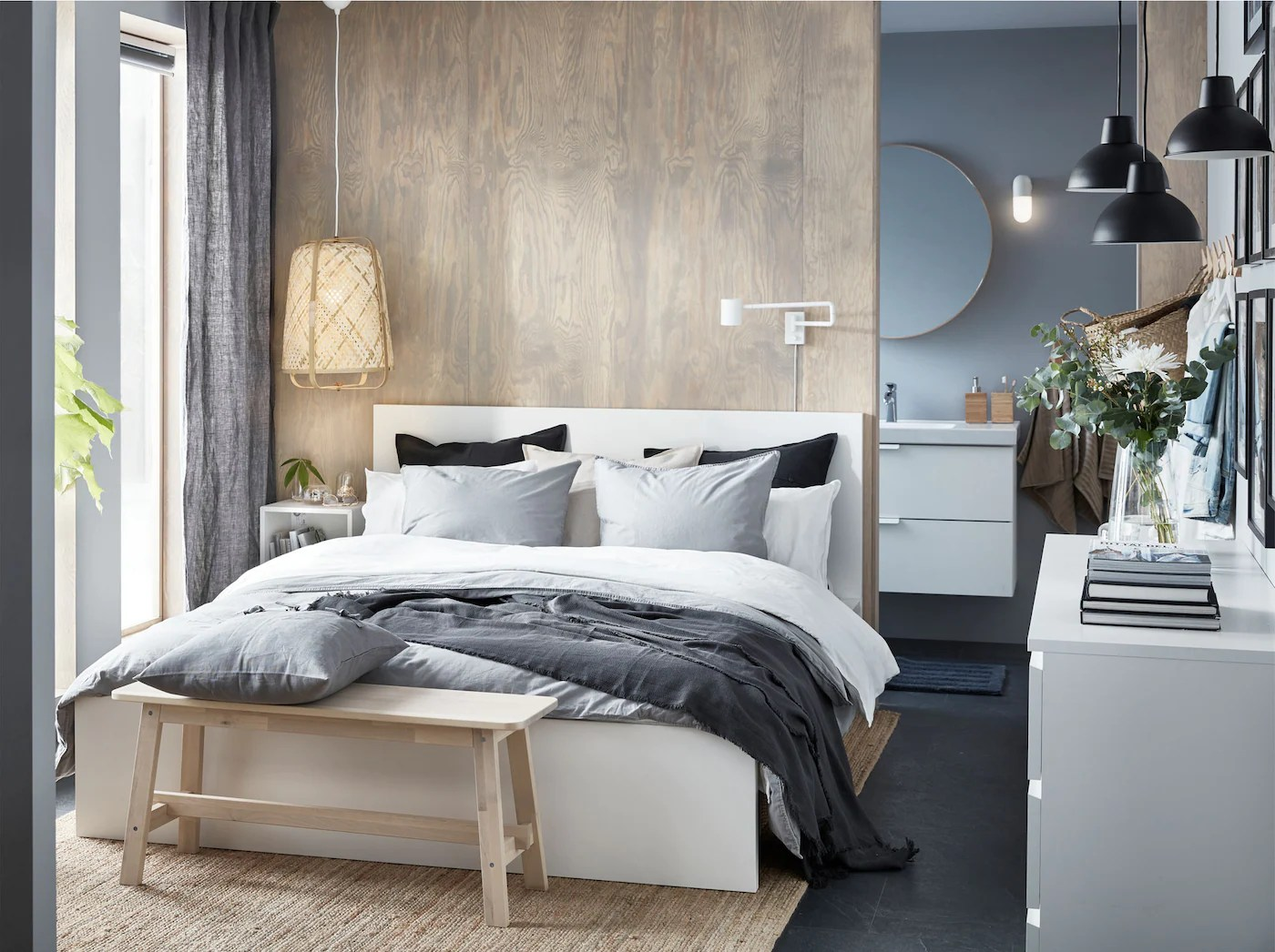 Stylish Small Bedroom With Luxury Details Ikea