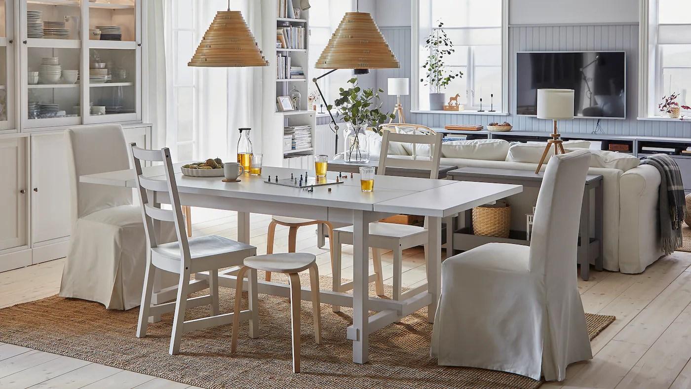En Lys Og Romslig Spiseplass Der Alle Kan Vaere Sammen Ikea