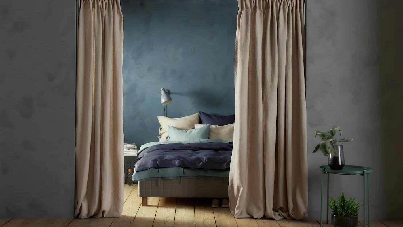 diviser un espace avec des rideaux ikea