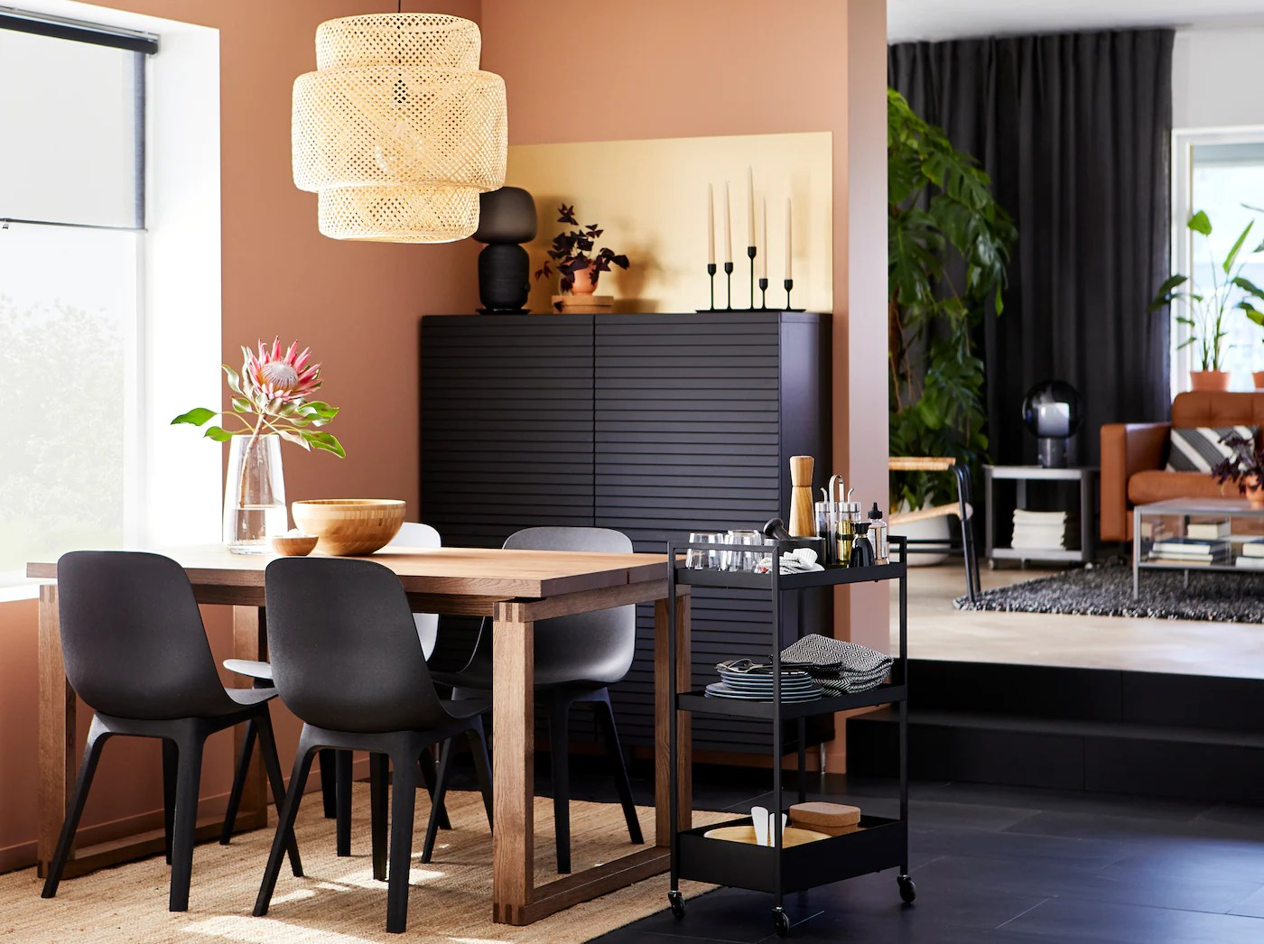 une salle a manger axee nature ikea