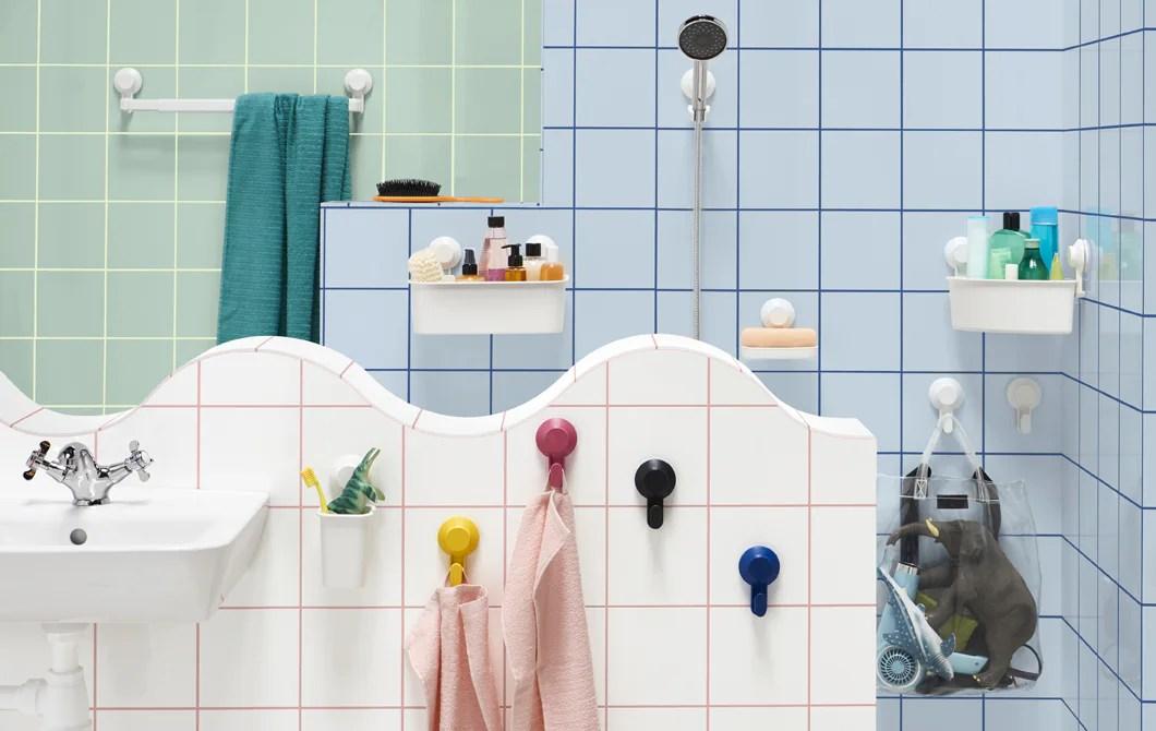 salle de bain sans percer les murs