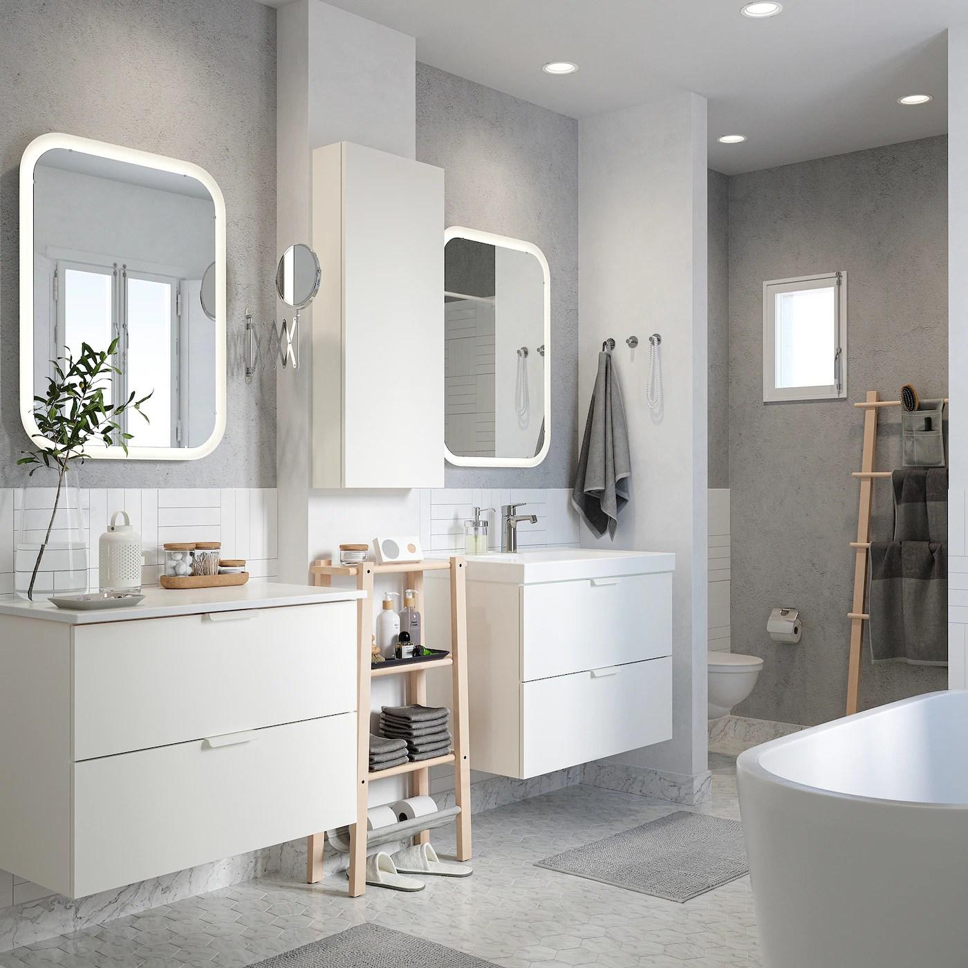 salle de bain moderne beige et gris