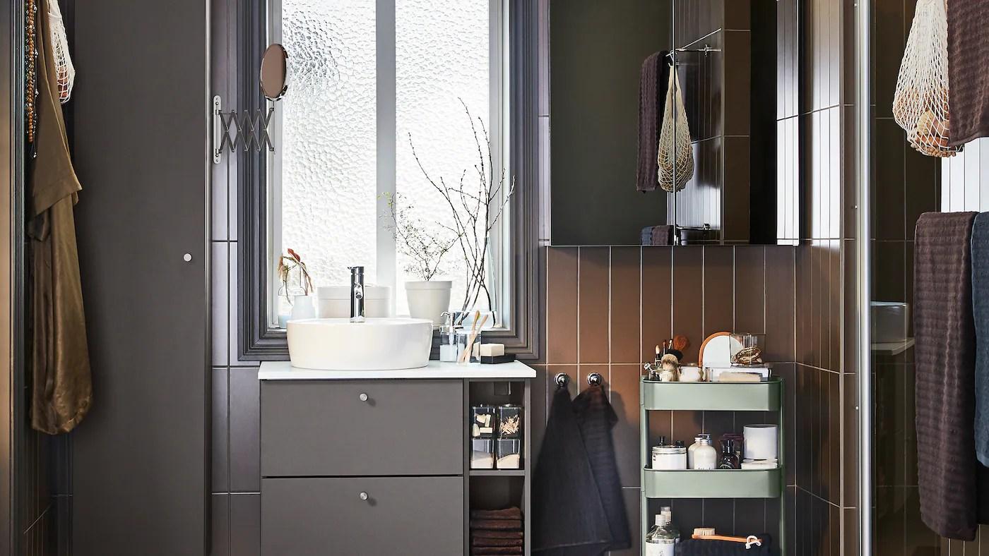 21,39 €   mobile bagno e pensile ikea: Un Bagno Minimalista Con Spazi Ottimizzati Ikea Svizzera