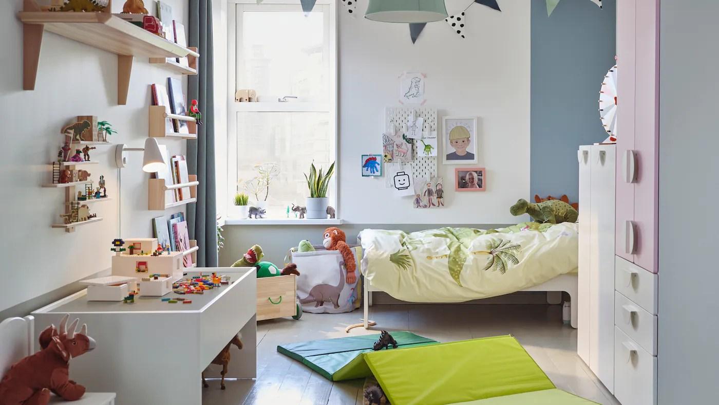 Mensole e panche portaoggetti per arredare la cameretta dei bambini. Una Galleria Di Idee Per La Cameretta Ikea It