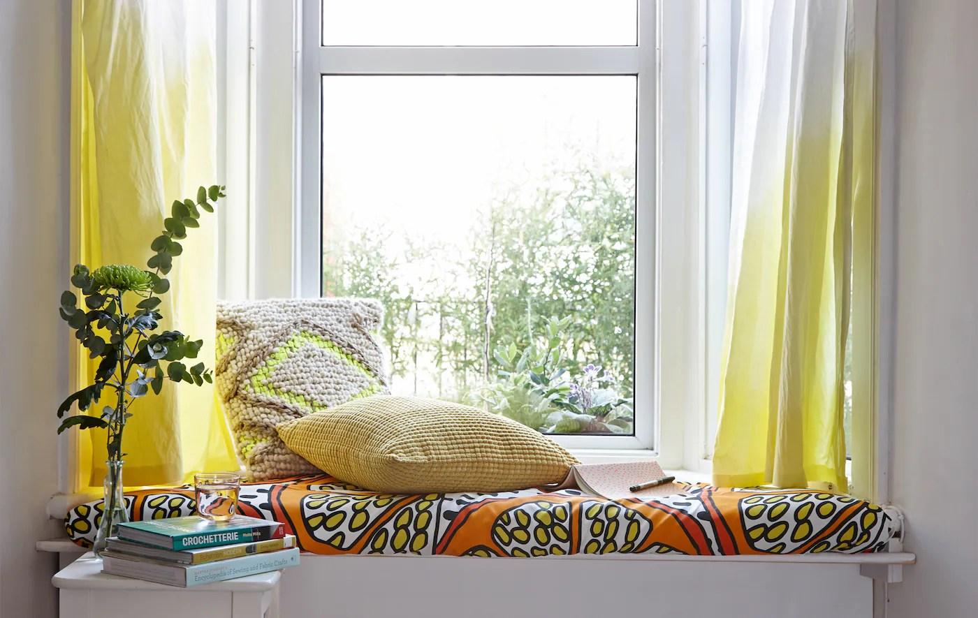 Bagno da sogno con tende leggere. Come Rinnovare Le Tende Coi Bagni Di Colore Ikea Svizzera