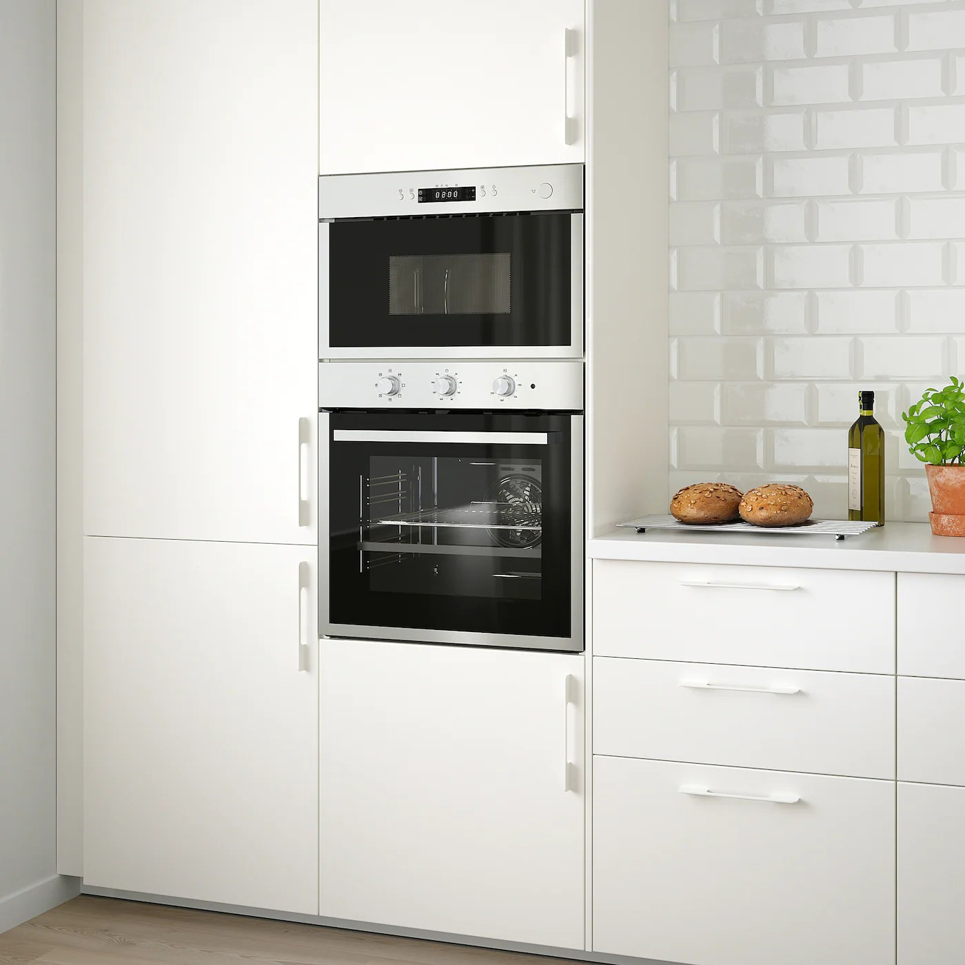 matalskare forced air oven black stainless steel