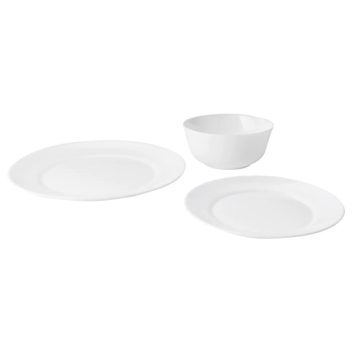 Dinner Set Dinnerware Square Black Plate Bowl Tableware 12 18 Pc Ikea Backig Spaar Org Pe