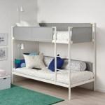 Vitval Bunk Bed Frame White Light Grey 90x200 Cm Ikea