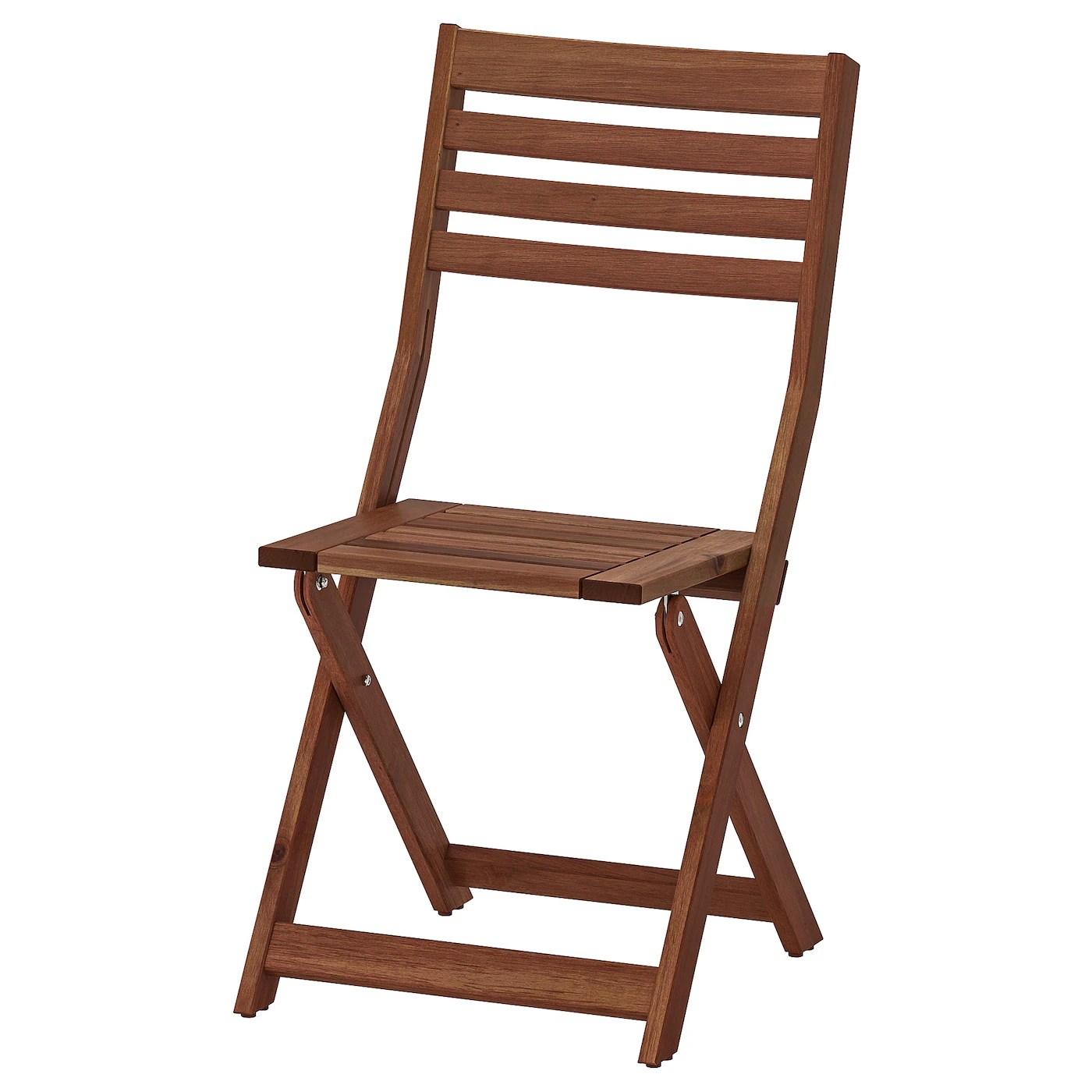 Set di 2 sedie da pranzo in tessuto verde calgary. Applaro Sedia Da Giardino Pieghevole Mordente Marrone Ikea It