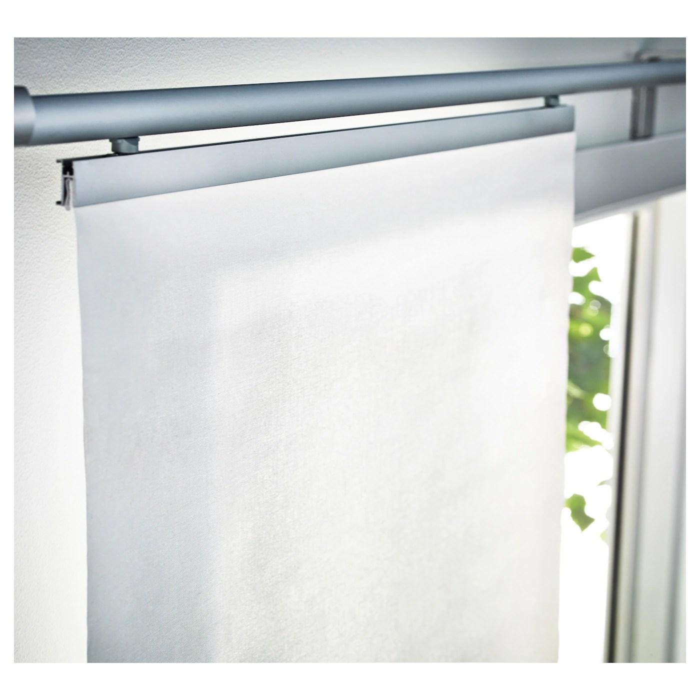 Il binario delle tende a pannello si applica a parete o a soffitto. Anno Tupplur Tenda A Pannello Bianco Ikea It