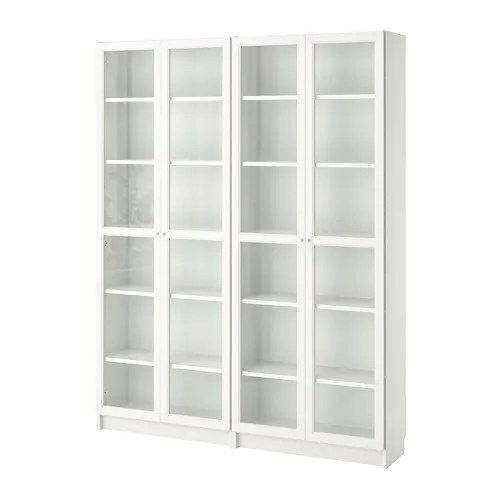 BILLY  OXBERG Libreria  biancovetro 160x202x28 cm  IKEA