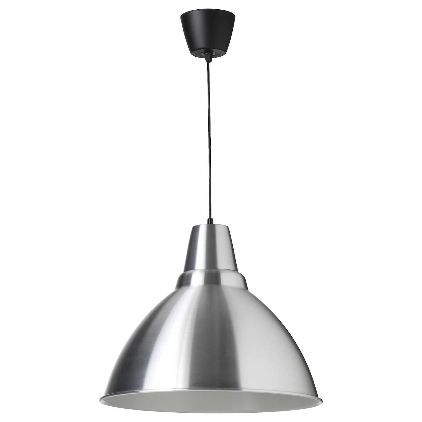 Ci piace immaginarla in cucina, che pende sul tavolo,. Foto Lampada A Sospensione Alluminio 50 Cm Ikea It
