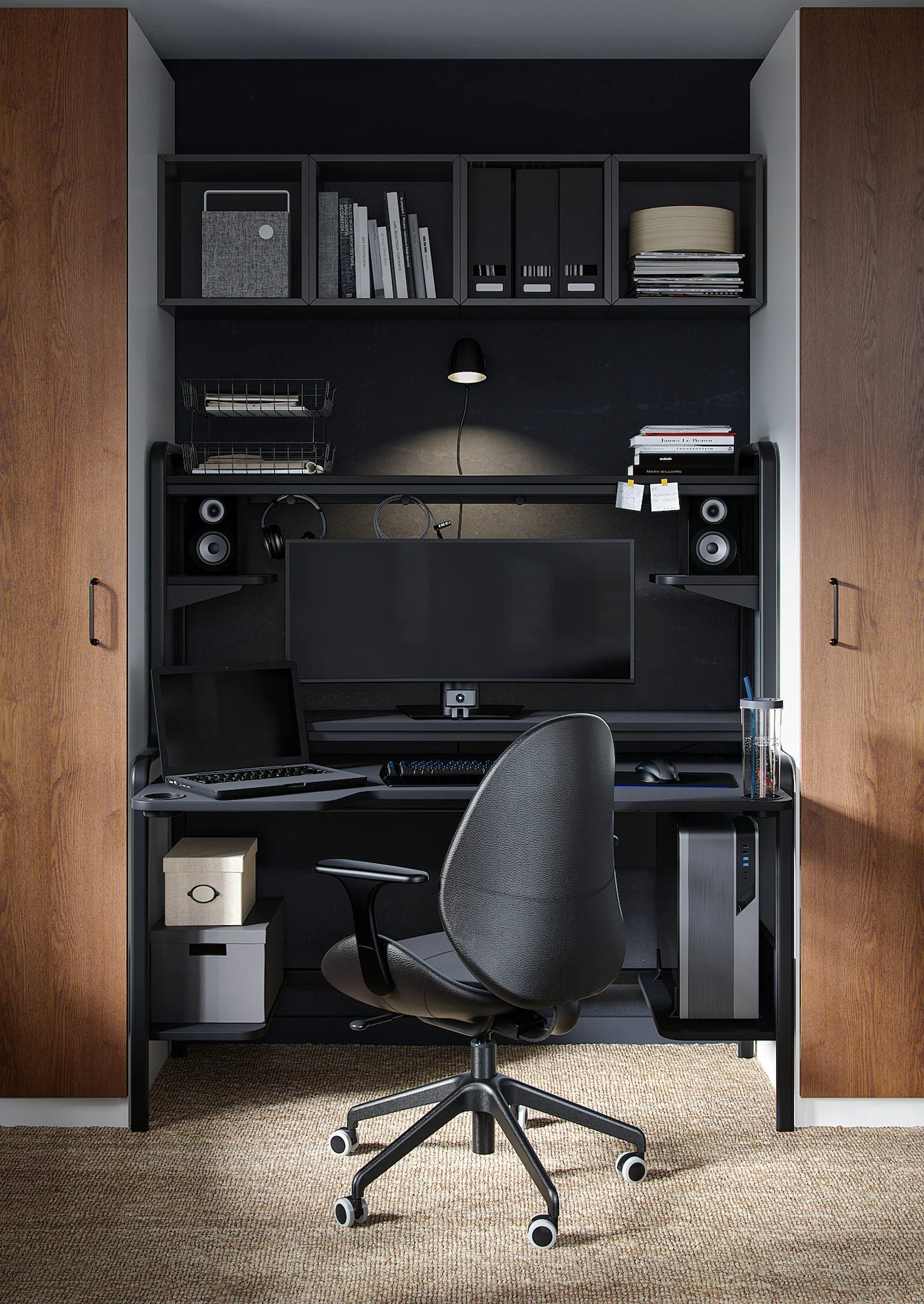 Design e funzionalità si fondono in questo prodotto unico, una scrivania porta pc dal look inconfondibile. Fredde Scrivania Nero 185x74x146 Cm Ikea It
