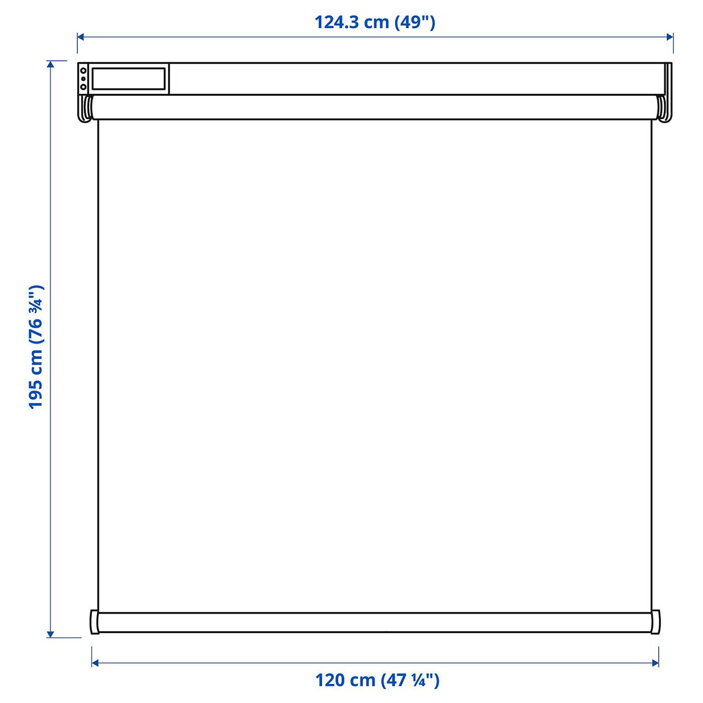 Tenda rullo su misura qualità elegante: Fyrtur Tenda A Rullo Oscurante Wireless A Batterie Grigio 120x195 Cm Ikea It