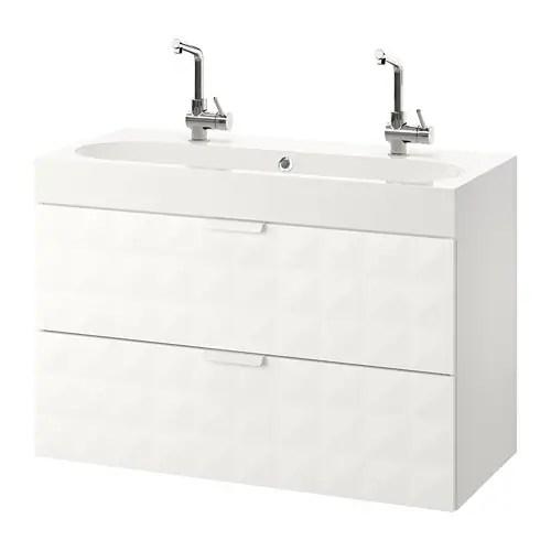 GODMORGON  BRVIKEN Mobile per lavabo con 2 cassetti  Resjn bianco  IKEA