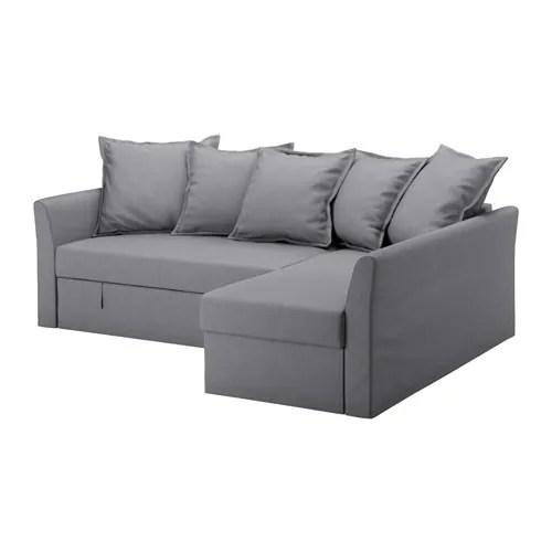 HOLMSUND Divano letto angolare  Nordvalla grigio fumo  IKEA