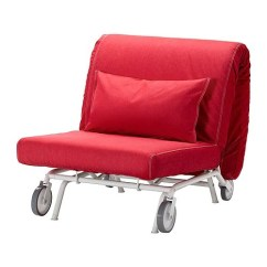 Single Sleeper Chair Massage Recliner Ikea Ps Fodera Per Poltrona Letto - Vansta Rosso