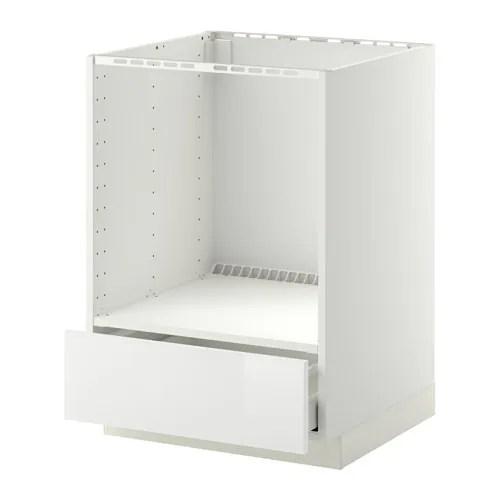 METOD  MAXIMERA Mobile base per forno e cassetto  bianco Ringhult lucido bianco  IKEA